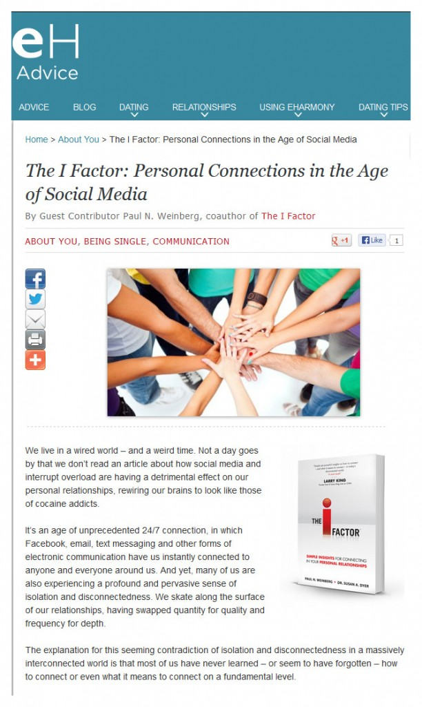 Personal Connections in the Age of Social Media