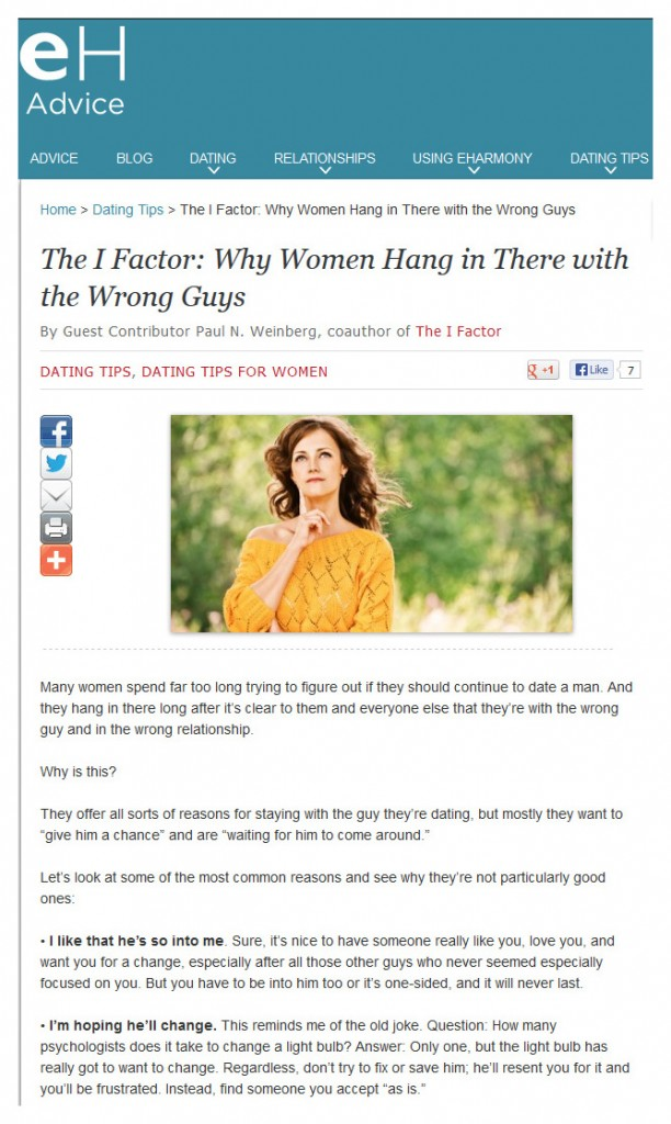 Why Women Hang in There With the Wrong Guys